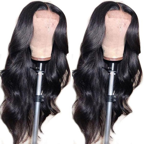 Hairsmarket 4*4 Lace Closure Wigs Body Wave Brazilian Virgin Human Hair Wigs