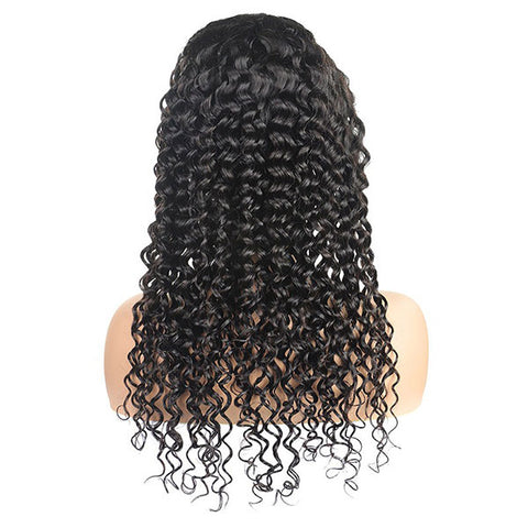 2 Pieces Wigs 100% Human Hair Wigs, 4*4 Lace Front Wigs, Deep And Loose Deep Lace Closure Wigs
