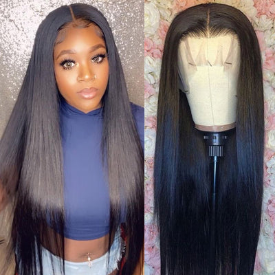 Hairsmarket Glueless Straight Virgin Human Hair Lace Part Wigs