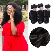 Ishow Hair Peruvian Virgin Loose Wave 3 Bundles Human Hair Extensions