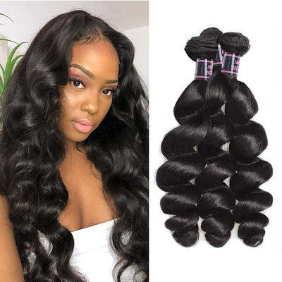 Ishow Hair Brazilian Virgin Loose Wave 3 Bundles Human Hair Deals