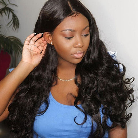 Ishow Malaysian Virgin Hair Loose Wave 3 Bundles With 13*4 Lace Frontal Human Hair Extensions