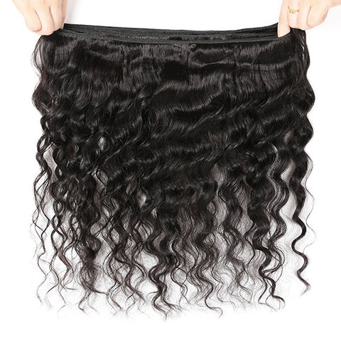 10A Brazilian Virgin Hair Loose Deep 3 Bundles With Lace Closure