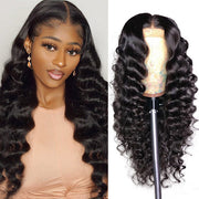 Hairsmarket Brazilian Hair 13*4 Loose Deep Wave Human Hair Wigs
