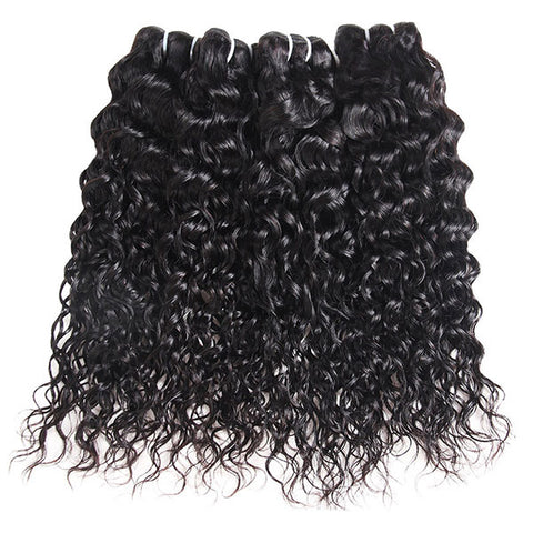 Ishow Hair Indian Human Hair Water Wave 3 Bundles Unprocessed Virgin Hair