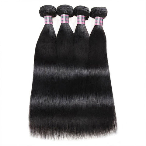 Ishow Peruvian Hair Virgin Straight Human Hair 4 Bundles