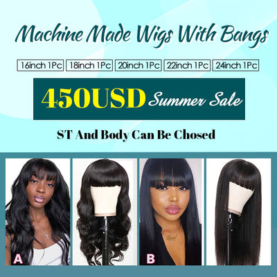 Wholesale Machine Made Wigs 100% Human Hair Wigs