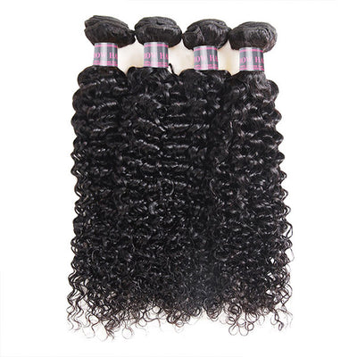 Ishow Indian Curly Virgin Human Hair Weaves 4 Bundles For Black Woman