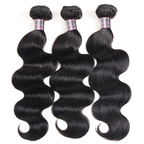 Ishow Indian Virgin Body Wave 3 Bundles Human Hair Extensions