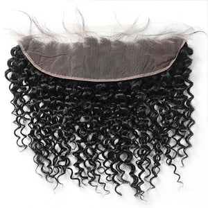 Ishow Hair Curly Wave Virgin Hair13*4 Lace Frontal Closure