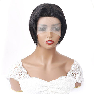 Hairsmarket Pixie Cut Wigs Short Straight Human Hair Wigs For Black Woman