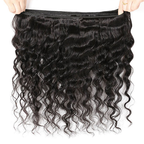 Ishow Loose Deep Wave Virgin Human Hair Weft For Black Woman