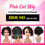 Pixie Cut Wig 100% Virgin Human Hair Wigs