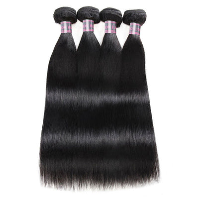 Ishow Unprocessed Straight Human Hair Weave 4 Bundles Indian Hair