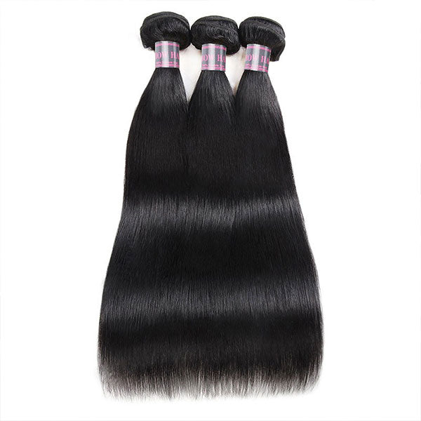Ishow Non Remy Hair Peruvian Straight Hair 3 Bundles Virgin Human Hair