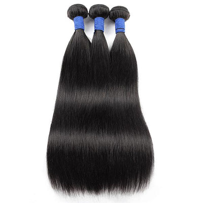 Customized 13*4 Lace Front Wig Virgin Remy Straight Human Hair With Frontal