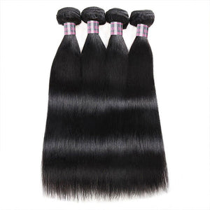 Ishow Brazilian Straight Virgin Hair 4 Bundles 8-28 Inches