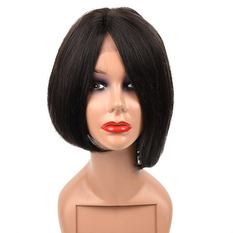Hairsmarket New Arrival Short Straight Human Hair Wigs Natural Looking