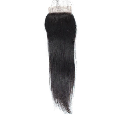 Ishow Straight Human Hair 4x4 Lace Closure With Baby Hair