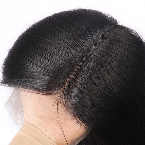 Hairsmarket Peruvian Hair 360/Tpart Straight Lace Frontal Wig 150% Density
