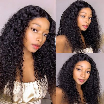 Hairsmarket Lace Part Human Hair Wigs Deep Wave Lace Wigs