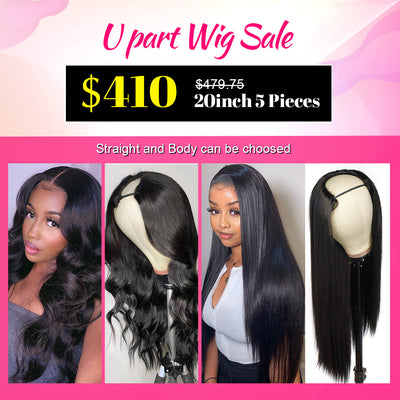 U Part Wig Human Hair Wholesale Virgin Remy Hair Wigs