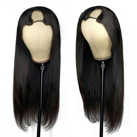 2 Pieces Wigs Upart Wigs Natural Color Human Hair Wigs