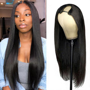 Straight Virgin Hair Wigs U Part Wig 100% Human Hair Wigs No Lace Wig