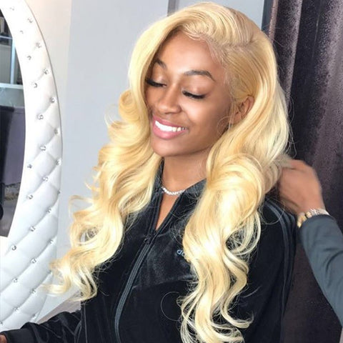 613 Blonde Virgin Body Wave Human Hair 3 Bundles 100% Unprocessed