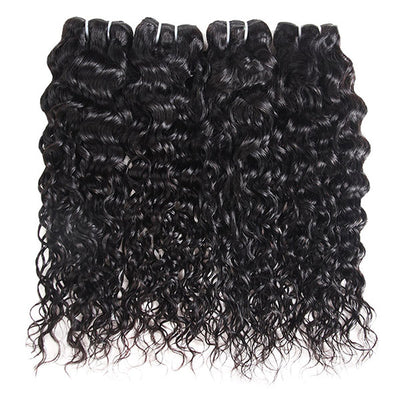 Ishow Brazilian Virgin Hair Water Wave Human Hair Extensions 4 Bundles