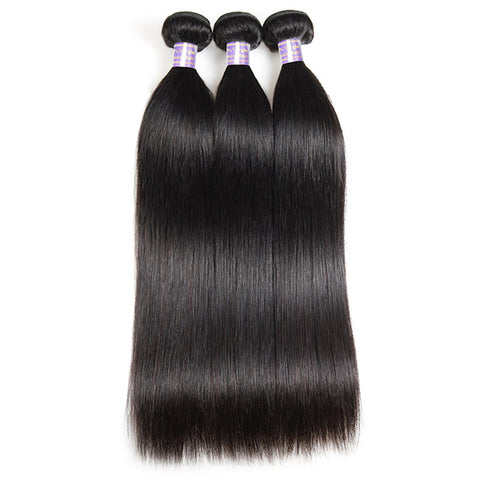 Customized 4*4 Lace Front Wig 9A Virgin Straight Hair With Lace Closure