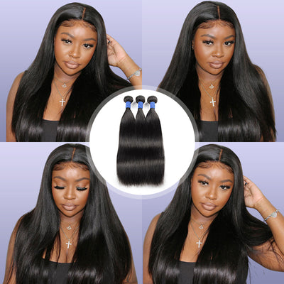 10A Virgin Remy Hair 3 Pieces Brazilian Straight Hair 100% Human Hair Weaves