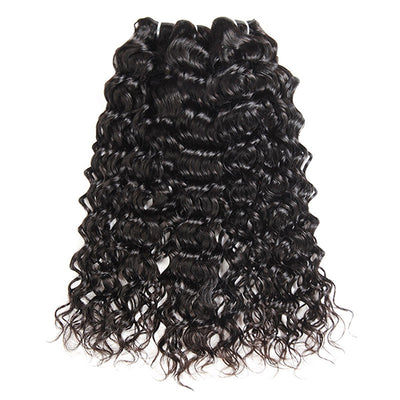 Allove 9A Brazilian Water Wave 3 Bundles Unprocessed Virgin Human Hair Weft