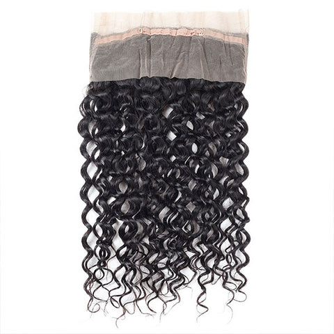 Ishow Hair 360 Water Wave Lace Frontals With Baby Hair 100% Virgin Human Hair
