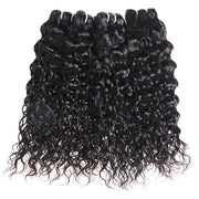 Water Wave Human Hair With Lace Closure 9A Virgin Hair 4*4 Customized Lace Wigs