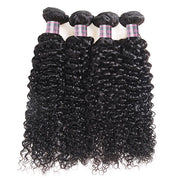 Ishow Brazilian Curly Human Hair 4 Bundles Cheap Virgin Hair Extensions