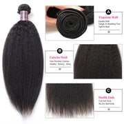 Ishow Virgin Indian Kinky Straight Human Hair 4 Bundles On Sale