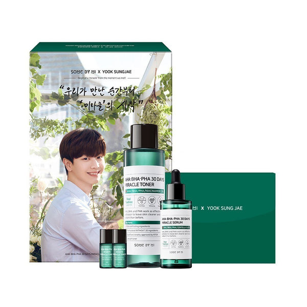 AHA BHA PHA 30 Days Miracle Toner & Serum Set - Douxskin