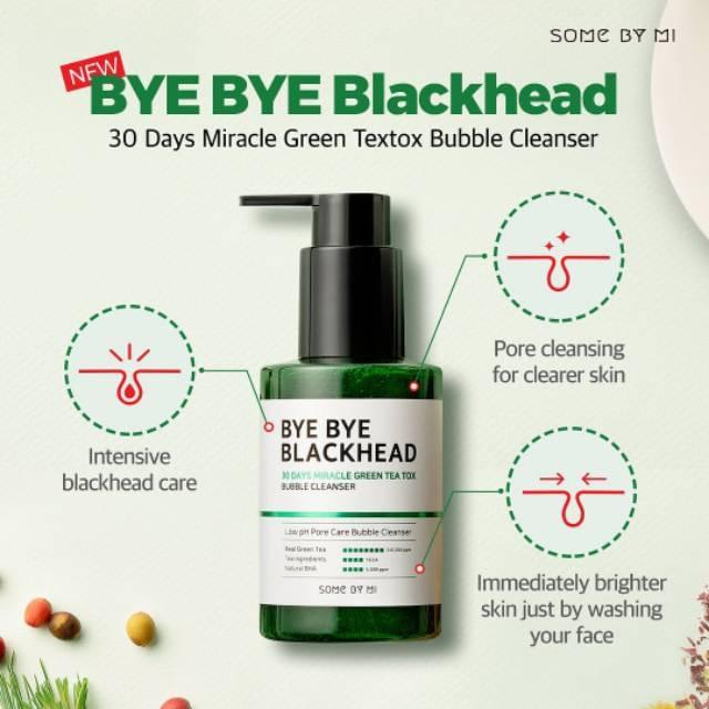 Bye Bye Blackhead 30 Days Miracle Green Tea Tox Bubble Cleanser - Douxskin
