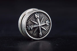 Ancient Smithy VW Beads Compass Bead Sterling Silver Jewelry