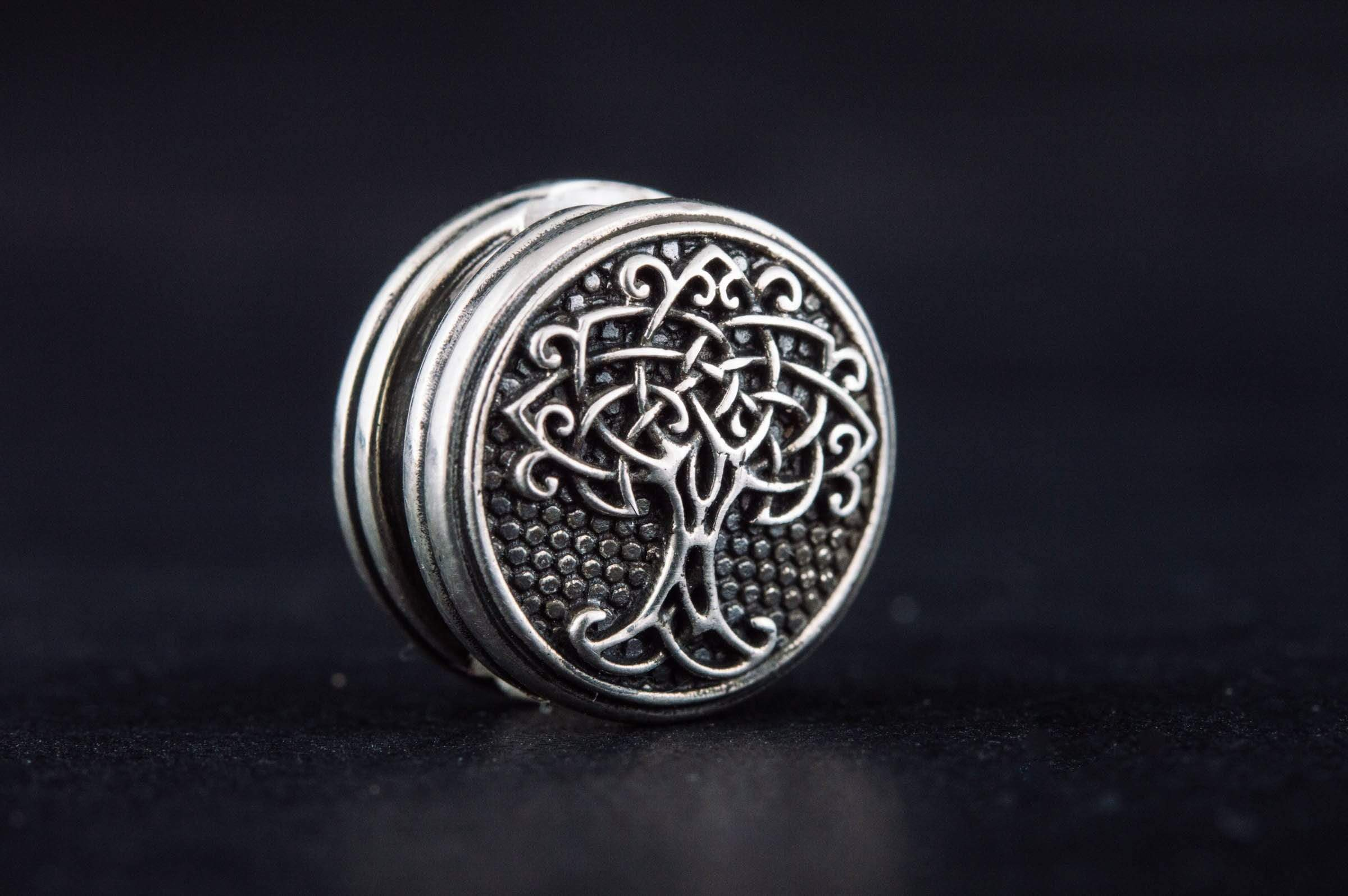 Ancient Smithy VW Beads Yggdrasil Symbol Bead Sterling Silver Jewelry