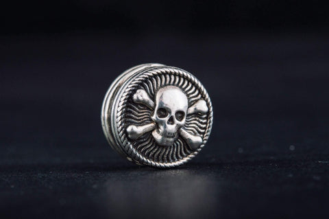 Ancient Smithy VW Beads Skull Bead Sterling Silver Jewelry