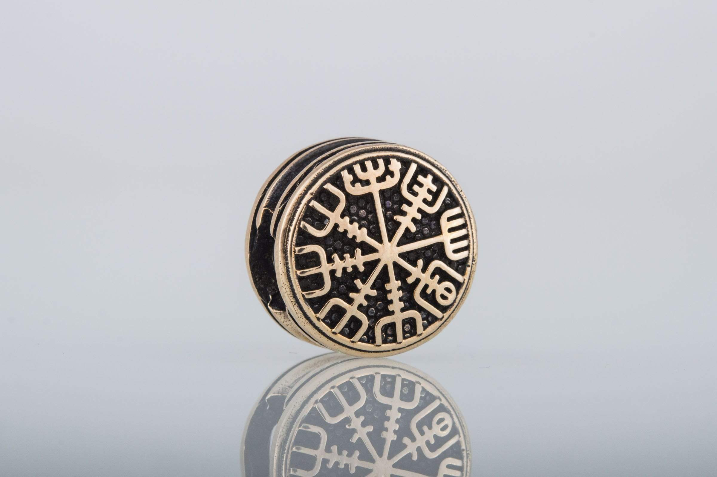 Ancient Smithy VW Beads Vegvisir Symbol Bead Viking Bronze Jewelry