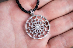 Ancient Smithy VW jewelry Black Sun or Schwarze Sonne Symbol Sterling Silver Pendant