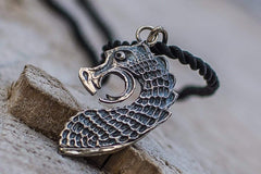 Ancient Smithy VW jewelry Drakkar The Head of Viking Boat Pendant Sterling Silver Unique Viking Ship Necklace