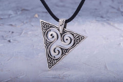 Ancient Smithy VW jewelry Unique Pendant with Triskel Spiral Sterling Silver Celtic Jewelry