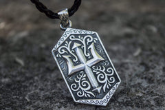 Ancient Smithy VW jewelry Trident Symbol Pendant Sterling Silver Pagan Jewelry