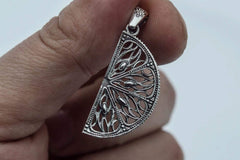 Lemon Pendant Sterling Silver Handmade Jewelry