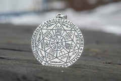 Occult Necklace with Angels Names Sterling Silver Jewelry