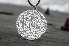Ancient Smithy VW jewelry Occult Necklace with Angels Names Sterling Silver Jewelry CS107
